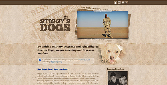Stiggy's Dogs Web Design