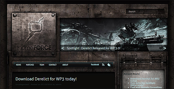 Free Grunge WordPress Theme Derelict
