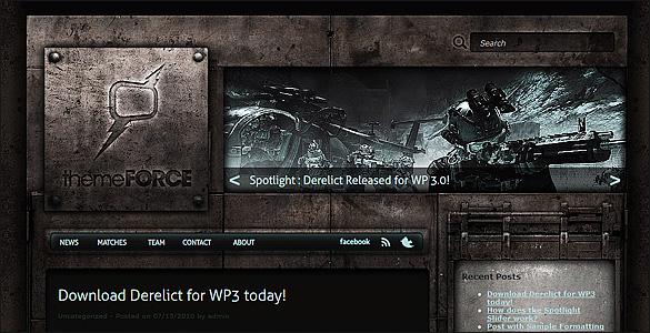 Free Grunge WordPress Theme Derelict