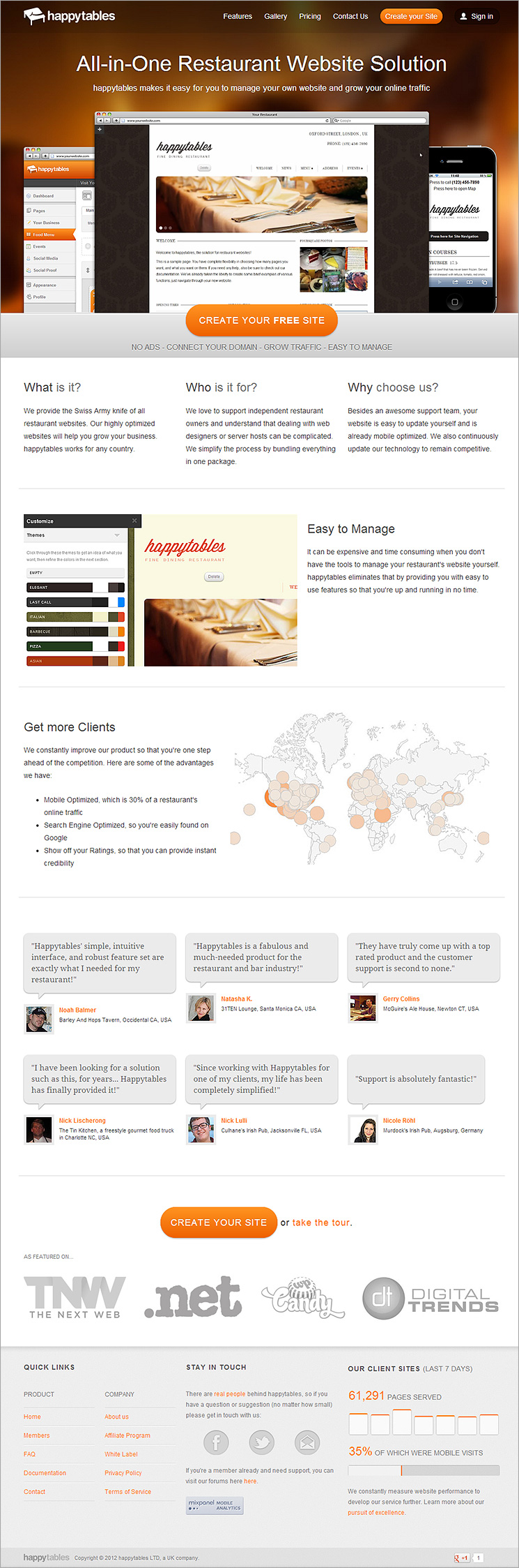 Landing Page Before